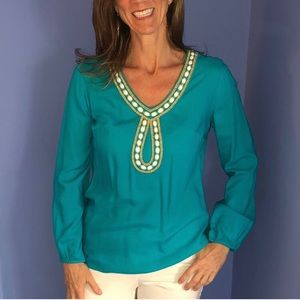 Lilly Pulitzer Bead Embellished Blouse